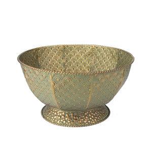 Embossed Metal Bowl