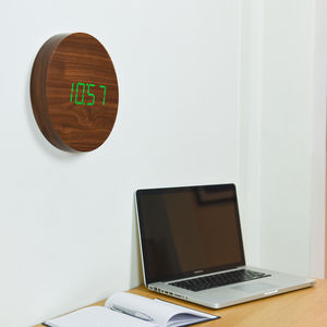 Walnut Wall Click Clock - clocks