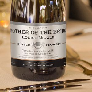 Mother Of The Bride Personalised Wedding Prosecco
