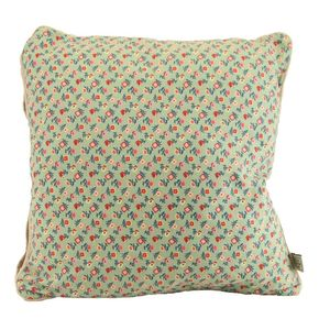 Pale Green Floral Cushion