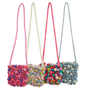 Handmade Felt Ball Candy Bag - bags, purses & wallets
