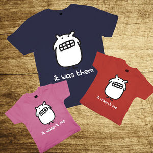 Father And Kids T Shirt Set