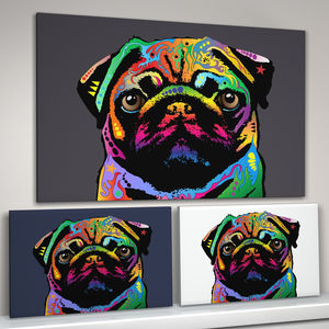 Pug Dog Pop Art Print - pet portraits