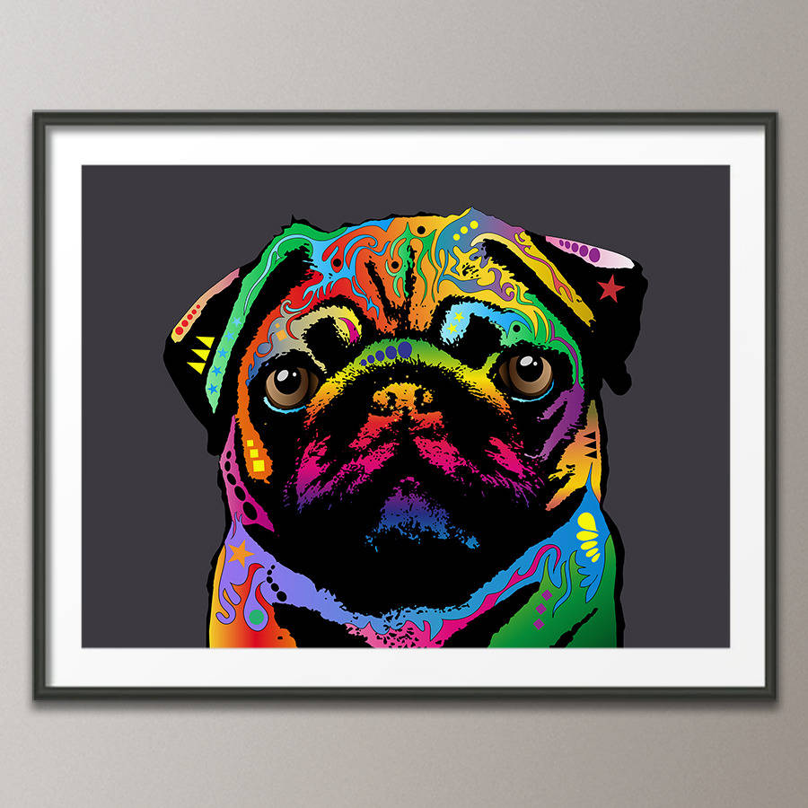 Pug Dog Pop Art Print By Artpause Notonthehighstreet Com