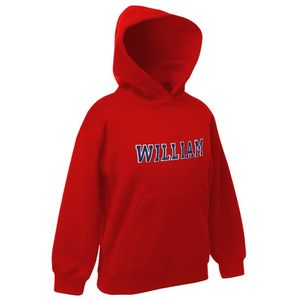 Personalised Applique Childrens Hoodie Red
