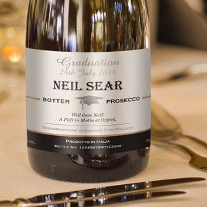 Graduation Personalised Bottle Of Prosecco - graduation gifts