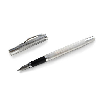 Earl Sterling Silver Detailed Fountain Pen