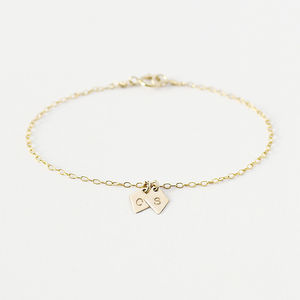 Personalised Diamond Initial Bracelet - wedding fashion