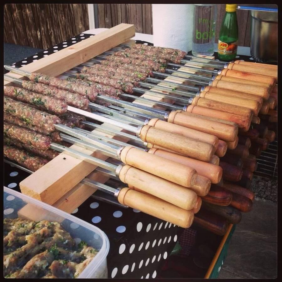 Five professional kebab skewers 53cm long by spice for Brochetas de acero inoxidable