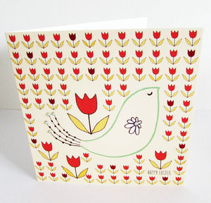 'Red Tulips' Easter Card