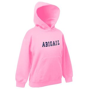 Personalised Applique Childrens Hoodie Pale Pink