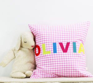 Personalised Gingham Cushion