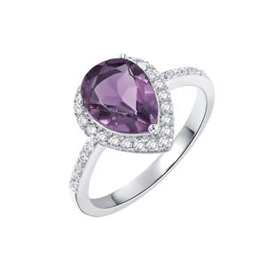 Pear Drop Amethyst Ring