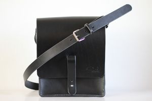 Handmade Leather Messenger Bag - cross-body bags