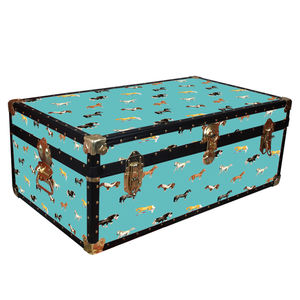 Teal Horse Trunk - chests & blanket boxes