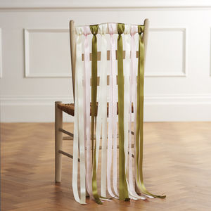 Wedding Chair Ribbons In Summer Meadows