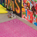 Pink Peace Rug