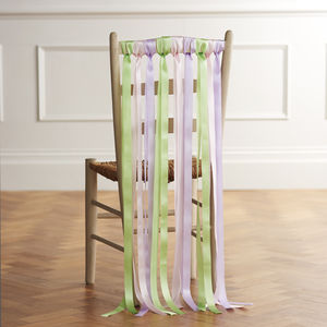Wedding Chair Ribbons In Ice Cream Pastels - chair decoration