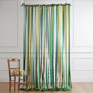 Ribbon Curtain Wedding Backdrop Woodland Greens - christmas wedding styling