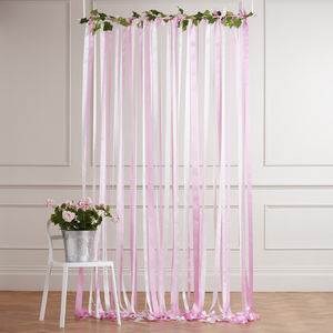 Ready To Hang Ribbon Curtain Backdrop Candy Pinks
