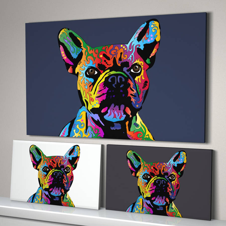 French bulldog pop art print by artpause for Pop wall art