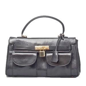 Italian Leather Kelly Style Handbag. ' The Rossano'