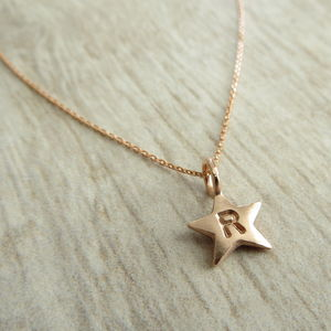 Gold Baby Star Necklace - christening jewellery