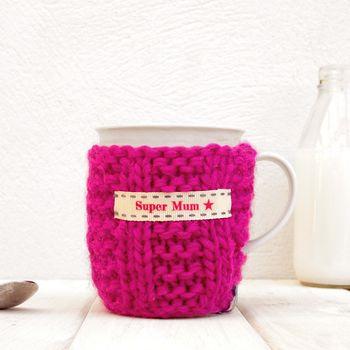 Fuchsia Knitted Mug Cosy