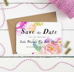 Summer Bloom Wedding Save The Date - save the date cards