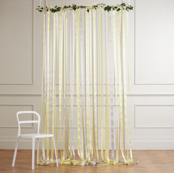 Yellow And Grey Wedding Backdrop
