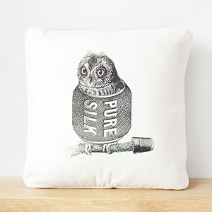 Common Yarn Owl Screen Printed Cushion