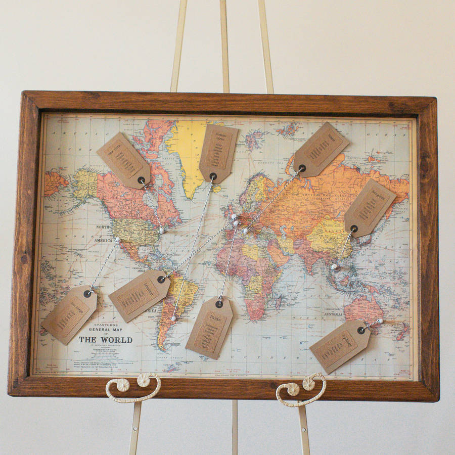 Dorable world map picture frame frieze picture frame ideas map wedding table plan by the wedding of my dreams gumiabroncs Choice Image
