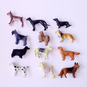 Set Of 12 Toy Dogs