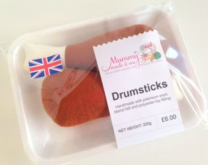 Pretend Play Felt Food Drumsticks