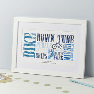 Personalised Cycling Themed Print