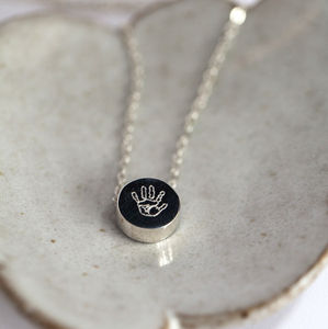 Engraved Print Pendant - jewellery gifts for mothers