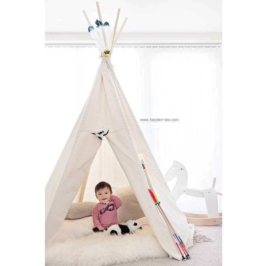 Big Moozle Teepee Tent Without Poles  sc 1 st  Notonthehighstreet.com & big moozle teepee tent without poles by moozle ...