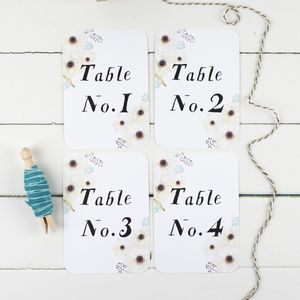 Floral Garden Wedding Table Number - table numbers