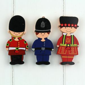 Set Of Wooden London Mini Puzzles