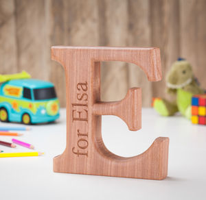 Personalised Carved Christening Letter - keepsakes