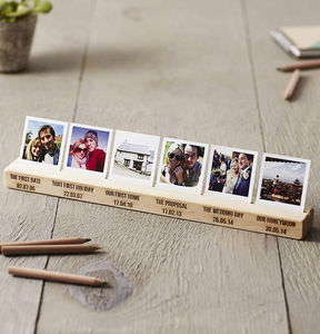Personalised Couples Timeline Photo Block - for him