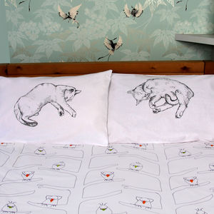 Cat Nap Pillowcases - bed linen