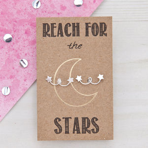 Reach For The Stars Sterling Silver Studs - celestial jewellery
