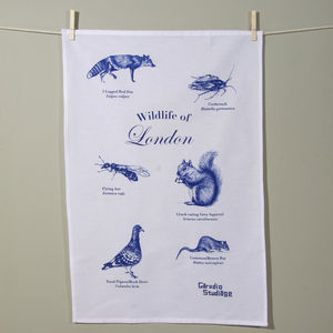 Wildlife Of London Tea Towel - kitchen