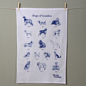 Dogs Of London Tea Towel - kitchen