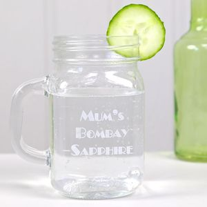 Personalised Engraved Mason Jar Glass - drink & barware