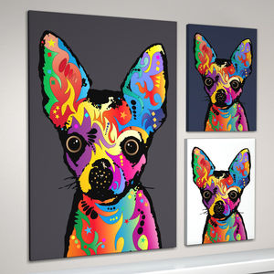 Chihuahua Dog Pop Art Print - canvas prints & art