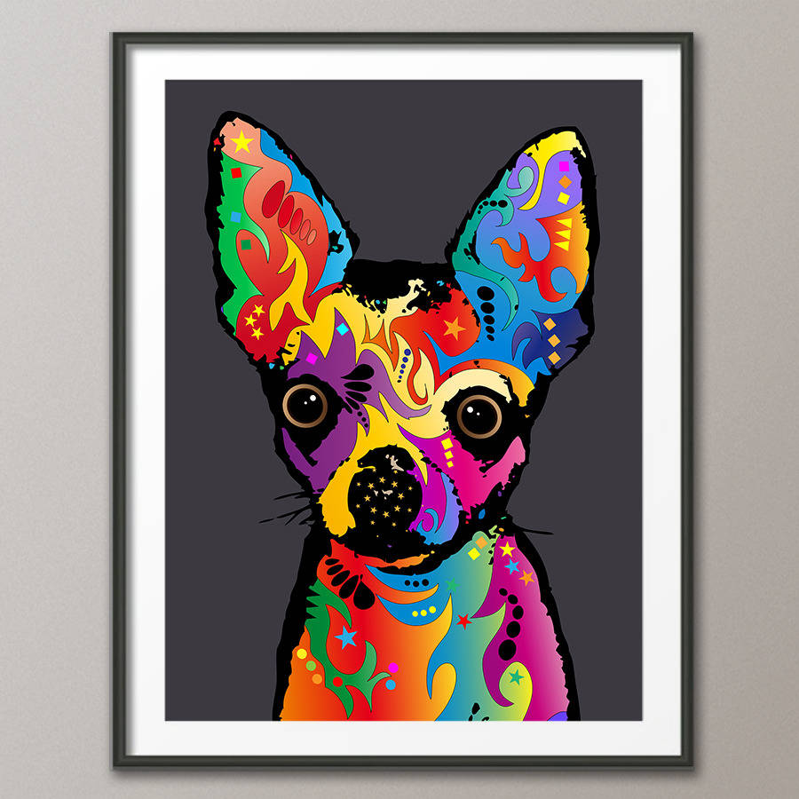 Chihuahua Dog Pop Art Print By Artpause