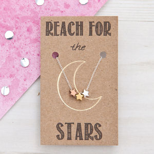 Reach For The Stars Mixed Metal Necklace