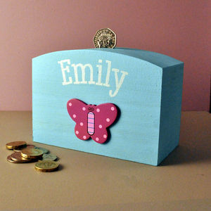 Personalised Money Box Butterfly